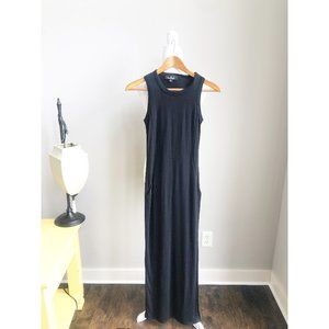 Lulu's Black Maxi Dress with Side Slit Small